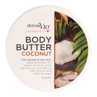DermaV10 Coconut Body Butter  220 ml