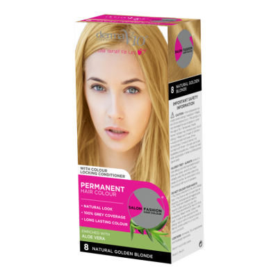 Image of   DermaV10 Salon Fashion Hair Colour Natural Golden Blonde 1 stk