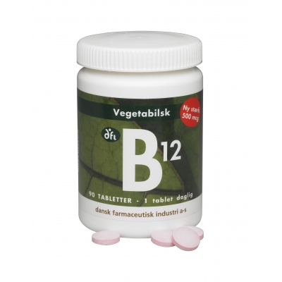 DFI B12 500 mcg - Kasvis 90 tablettia