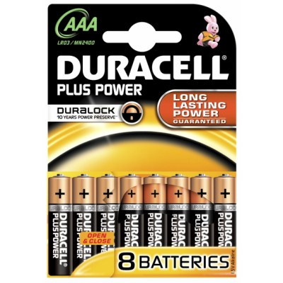 Duracell Plus Power AAA 8 pcs