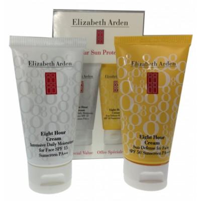 Image of   Elizabeth Arden Eight Hour Cream Moisturizer For Face + Sun Defense SPF 50 For Face 50 ml + 50 ml