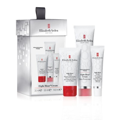 Image of   Elizabeth Arden Eight Hour Skin Protectant Cream Fragrance Free Gift Set 50 ml + 30 ml + 14.8 ml