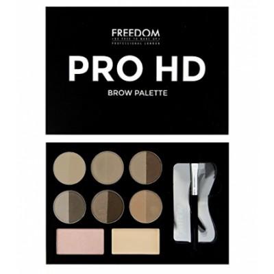 Image of   Freedom Makeup Pro HD Brow Palette Fair Medium 10 g
