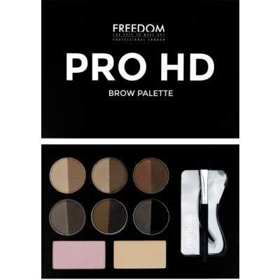 Image of   Freedom Makeup Pro HD Brow Palette Medium Dark 10 g