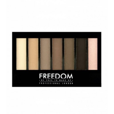 Image of   Freedom Makeup Pro Shade & Brighten Eyeshadow Kit Mattes 1 st