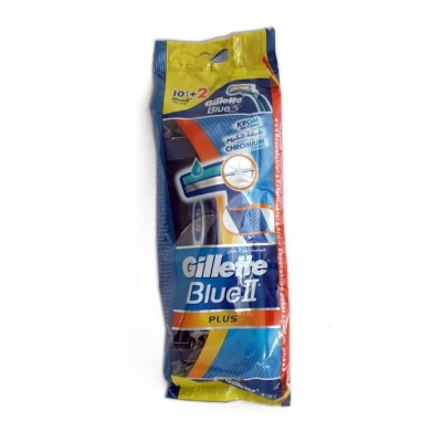 Image of   Gillette Blue II Plus Engangsskrabere 10 stk + 2 stk
