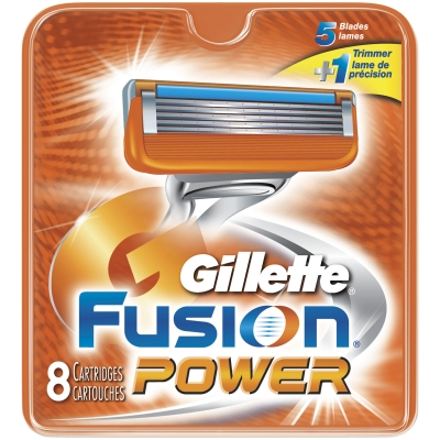 Image of   Gillette Fusion Power Barberblade 8 stk