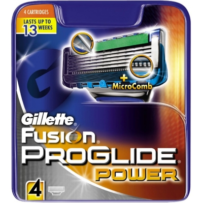 Gillette Fusion Proglide Power Razorblades 4 pcs