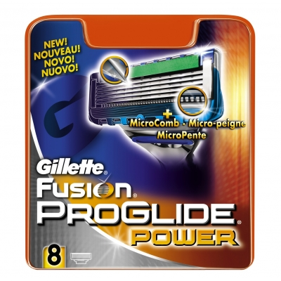 Image of   Gillette Fusion Proglide Power Barberblade 8 stk