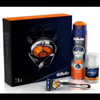 Image of   Gillette Fusion Proglide Shaving Set 1 stk + 170 ml + 50 ml