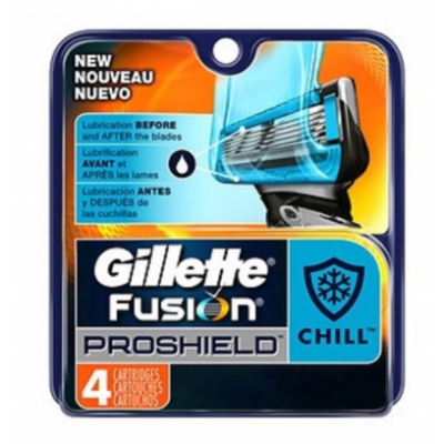 Gillette Fusion Proshield Chill Razorblades 4 pcs
