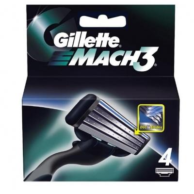 Image of   Gillette Mach3 Barberblade 4 stk