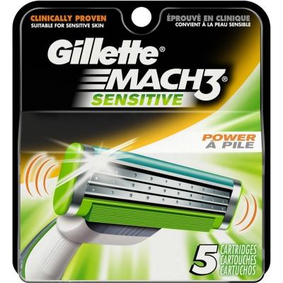 Image of   Gillette Mach3 Sensitive Power Barberblade 5 stk