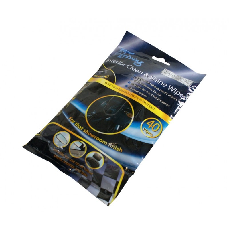 Gone Driving Interior Clean Shine Wipes 40 Pcs