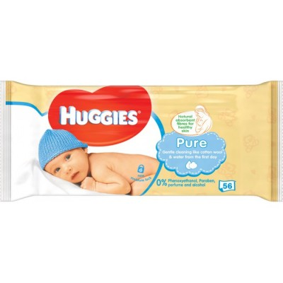 Huggies Baby Wipes Pure 56 st