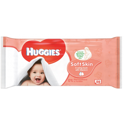 Huggies Baby Wipes Soft Skin 56 st