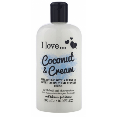 I Love Cosmetics Bath & Shower Creme Coconut & Cream 500 ml