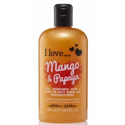 I Love Cosmetics Bath & Shower Creme Mango & Papaya 500 ml