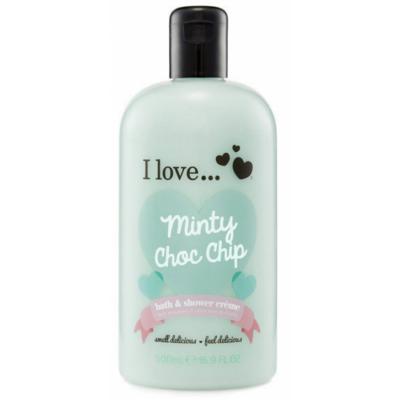 I Love Cosmetics Bath & Shower Creme Minty Choc Chip 500 ml