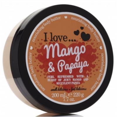 I Love Cosmetics Body Butter Mango & Papaya 200 ml