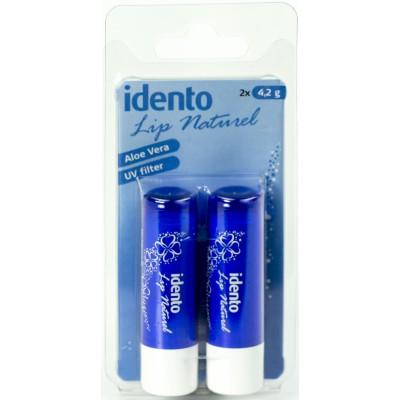 Idento Lippenpflegestift Natur 2 stk