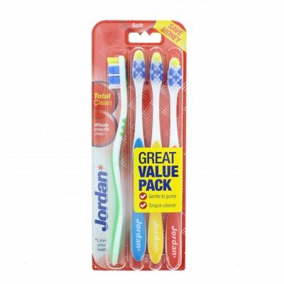 Jordan Total Clean Zahnbürsten Soft 4 stk