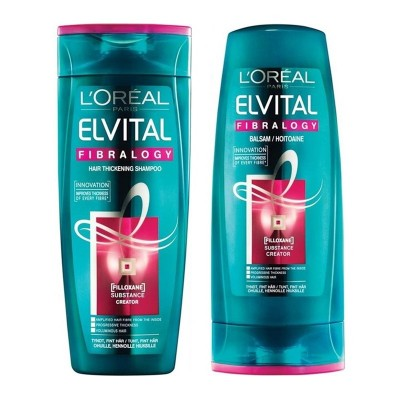 Image of   L'Oreal Elvive Fibrology Shampoo & Conditioner Set 2 x 250 ml