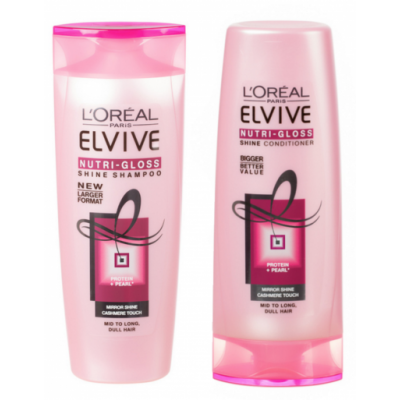 Image of   L'Oreal Elvive Nutri Gloss Shampoo & Conditioner Set 2 x 250 ml