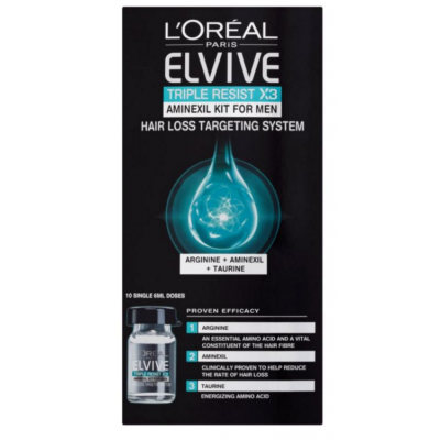 Image of   L'Oreal Elvive Triple Resist Aminexil Kit For Men 10 x 6 ml