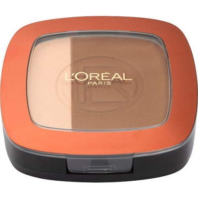Image of   L'Oreal Glam Bronze Duo Powder 101 Blonde Harmony 9 g