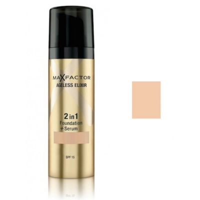 Image of   Max Factor Ageless Elixir 2 in 1 SPF15 - 40 Light Ivory 30 ml