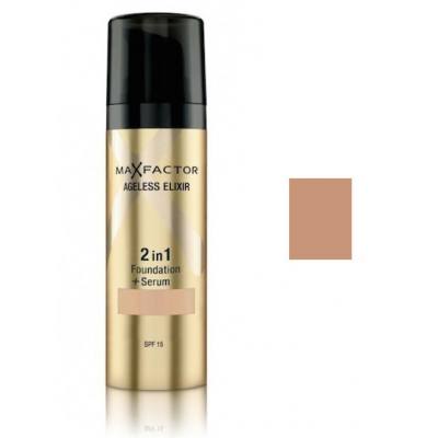 Image of   Max Factor Ageless Elixir 2 in 1 SPF15 - 60 Sand 30 ml