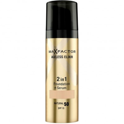 Image of   Max Factor Ageless Elixir 2 in 1 SPF15 - 55 Beige 30 ml