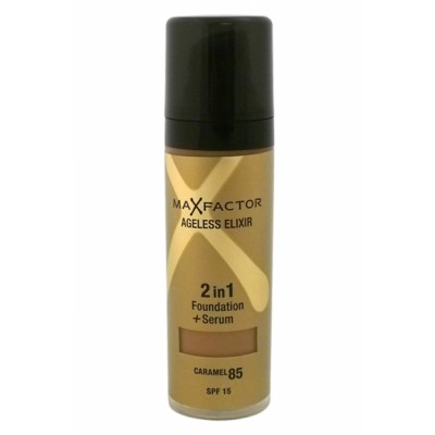 Image of   Max Factor Ageless Elixir 2 in 1 SPF15 - 85 Caramel 30 ml