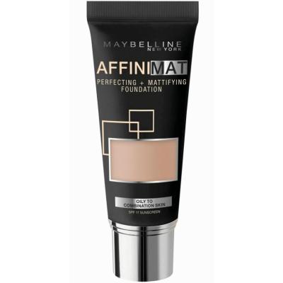 Image of   Maybelline Affinimat Mattifying Foundation 14 Creamy Beige 30 ml