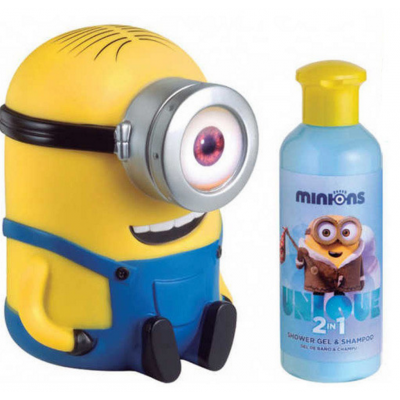 Image of   Minions Shower Gel & Shampoo & Sparegris 200 ml + 1 stk