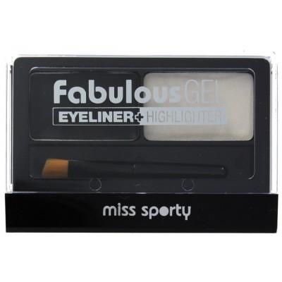 Image of   Miss Sporty Fabulous Gel Eyeliner & Highlighter 01 Black & White 1 stk