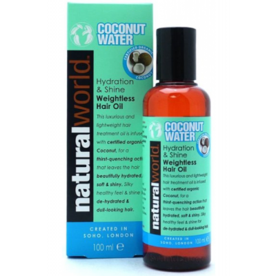 Natural World Coconut Water Hydration & Shine Weightless Hair Oil 100 ml
