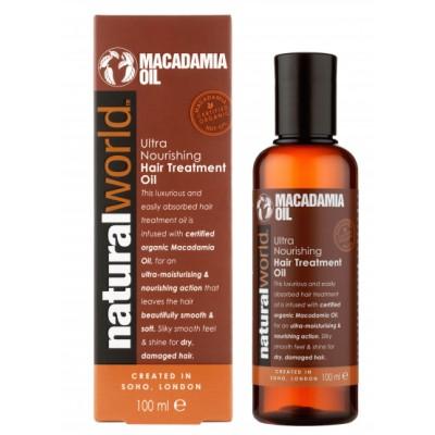 Natural World Macadamia Oil Ultra Nourishing Hair Treatment Oil 100 ml