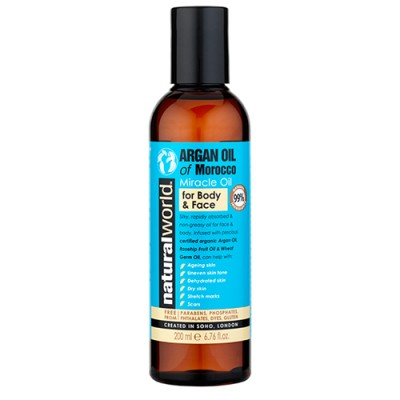 Natural World Moroccan Argan Oil Miracle Oil For Body & Face 200 ml