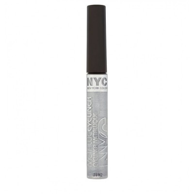 Image of   NYC Metallic Liquid Eyeliner 865 Silver Light 7 ml