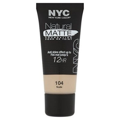 Image of   NYC Natural Matte 12 Hr Foundation 104 Nude 30 ml