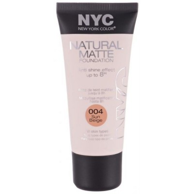 Image of   NYC Natural Matte Foundation 04 Sun Beige 30 ml