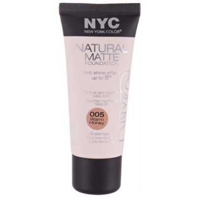 Image of   NYC Natural Matte Foundation 05 Warm Honey 30 ml