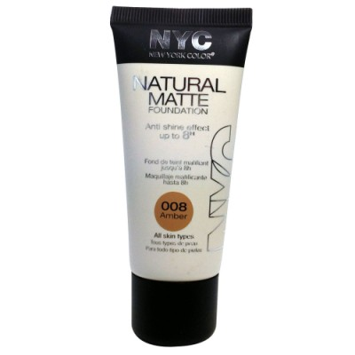 Image of   NYC Natural Matte Foundation 08 Amber 30 ml