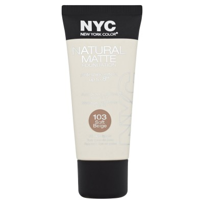 Image of   NYC Natural Matte Foundation 103 Soft Beige 30 ml