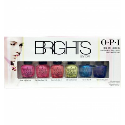 Image of   OPI Brights Mini Nail Polish Collection 6 x 3,75 ml