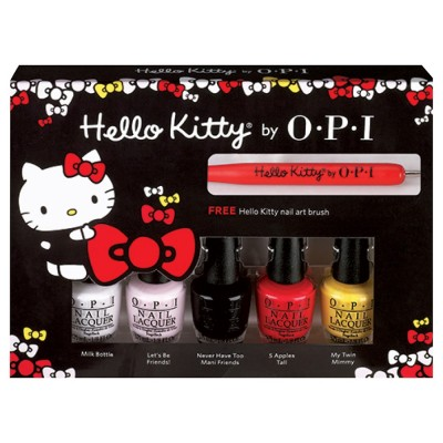 Image of   OPI Hello Kitty Collection Friend Mini Pack 5 x 3,75 ml + 1 stk