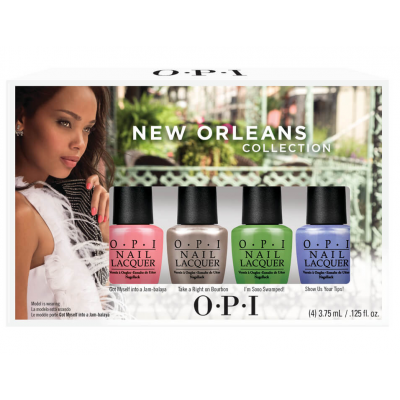 Image of   OPI Jambalayettes Mini Nail Polish Collection 4 x 3,75 ml