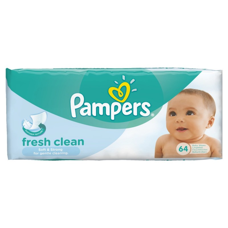 Pampers Fresh Clean Baby Wipes 64 Pcs 163 1 25